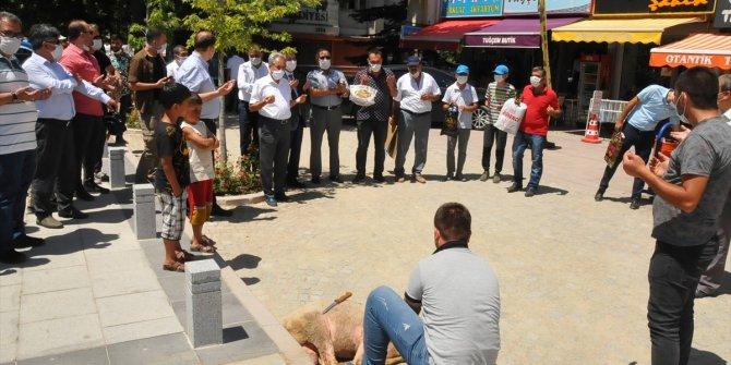 Konya'da Ayasofya-i Kebir Cami-i Şerifi'nin açılışına kurban kesildi