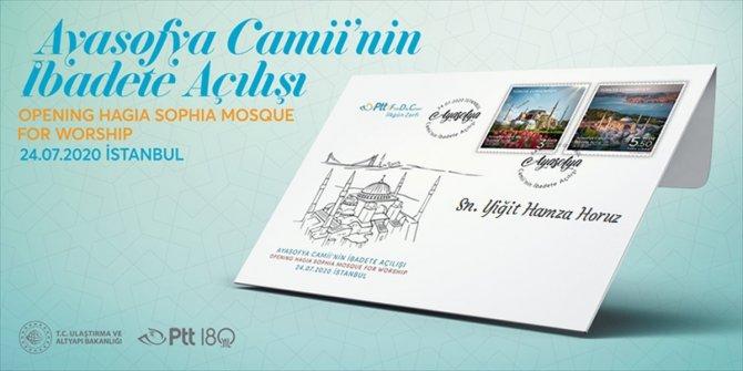 """Ulaştırma ve Altyapı Bakanlığından kişiye özel """"Ayasofya Camii hatıra pulu"""""""