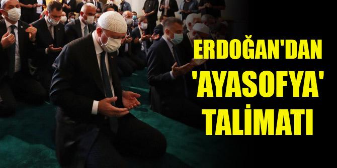 Cumhurbaşkanı Erdoğan'dan 'Ayasofya' talimatı