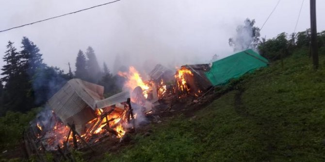 Tüp patlaması sonucu köy evi kullanılamaz hale geldi
