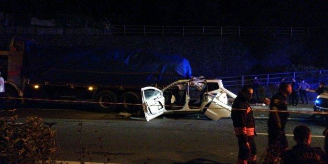 Trabzon'da trafik kazası: 4 ölü