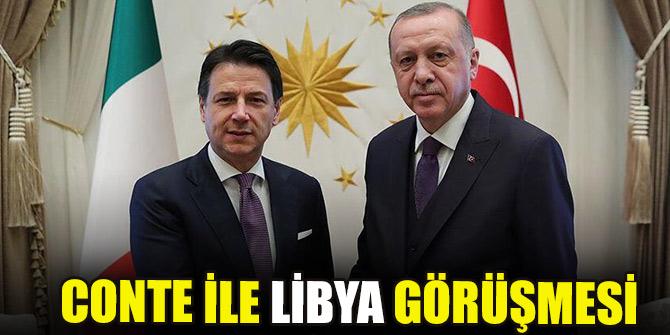 Cumhurbaşkanı Erdoğan, Conte ile Libya'yı görüştü