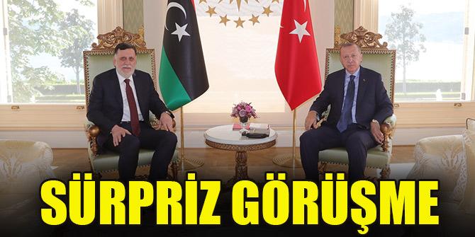 Erdoğan, Libya Başbakanı Fayiz es-Serrac'ı kabul etti
