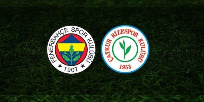 Fenerbahçe - Çaykur Rizespor maçından notlar