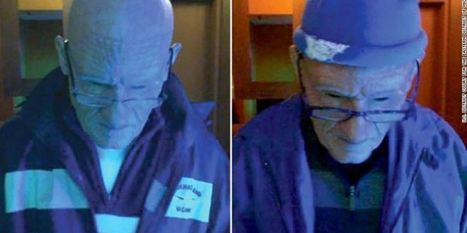 Protezle yaşlı kılığına girdi, 100 bin dolar çaldı