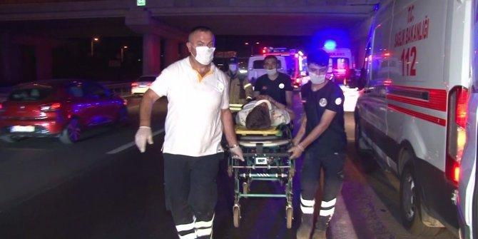 Tem otoyolunda feci kaza: 1 ölü, 6 yaralı
