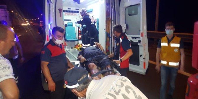 Tem otoyolunda iki tır çarpıştı: 1 yaralı