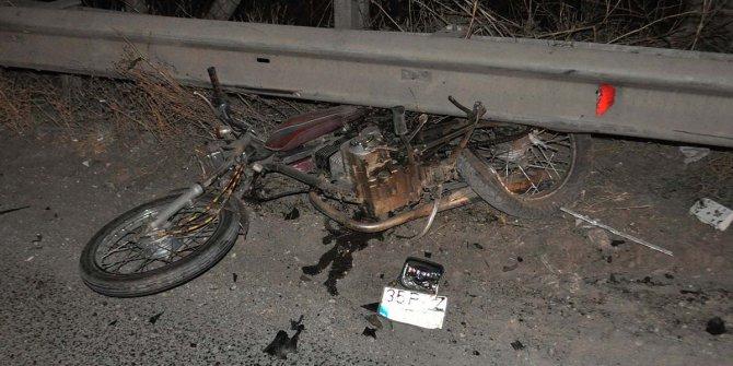 Kazada ayağı kopan motosikletli genç yaşamını yitirdi