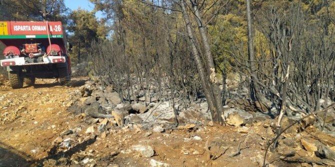 Burdur'da orman yangını 4 saatte kısmen kontrol altına alındı