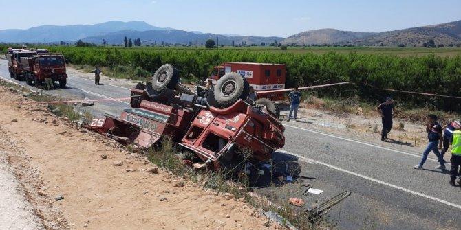 Yangına giden arazözün devrildiği kazada ağır yaralanan işçi şehit oldu
