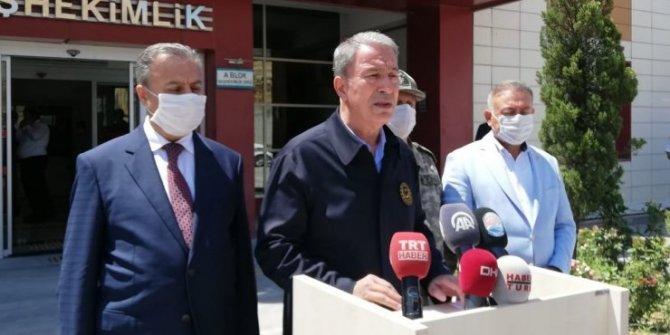 Bakan Akar'dan 'kaza' açıklaması