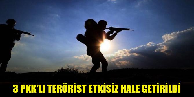 3 PKK'lı terörist etkisiz hale getirildi