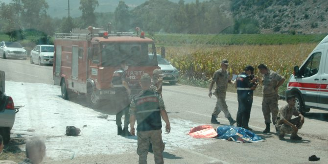 2 kişinin yanarak öldüğü kazada yaralanan çocuk da yaşamını yitirdi