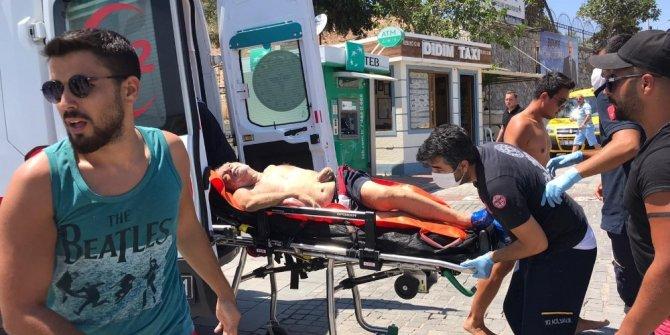 Denizde boğulma tehlikesi geçiren şahıs hastaneye kaldırıldı