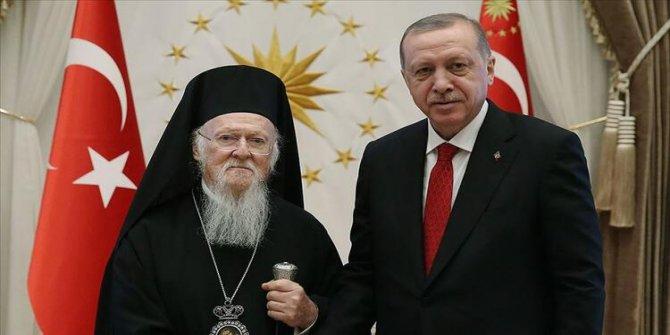 Bartholomeos'dan Cumhurbaşkanı Erdoğan'a Sümela Manastırı teşekkürü