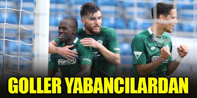 Konyaspor'un golleri yabancılardan geldi