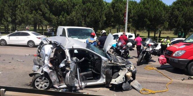 Bayram trafiğinde yaşanan kazada 1 kadın öldü, 4 kişi yaralandı