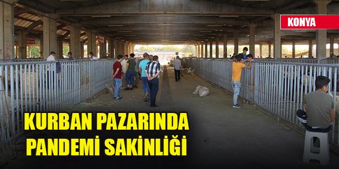 Konya'da kurban pazarında pandemi sakinliği