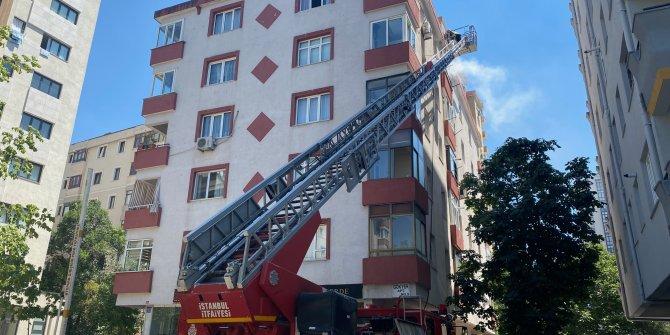 5 katlı binada yangın paniği