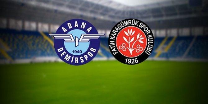 Adana Demirspor-Fatih Karagümrük maçından notlar