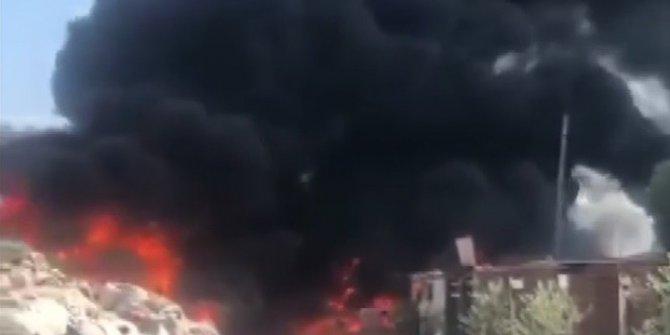Manisa'da bir geri dönüşüm tesisinde yangın