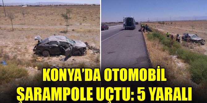Konya'da otomobil şarampole uçtu: 5 yaralı