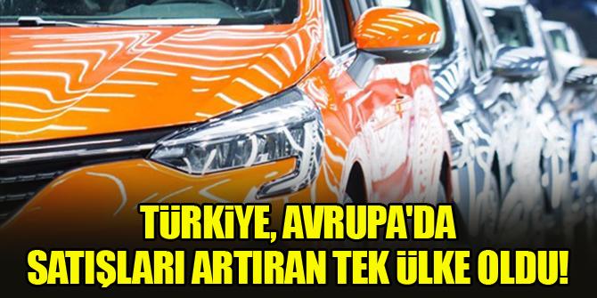 Türkiye, Avrupa'da satışlarını artıran tek ülke oldu!