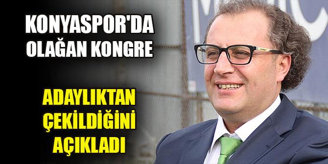 Konyaspor'da olağan kongre öncesi Erkan Genç adaylıktan çekildi