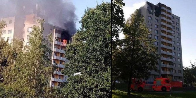Çekya'da bir apartmanda çıkan yangında 11 kişi öldü