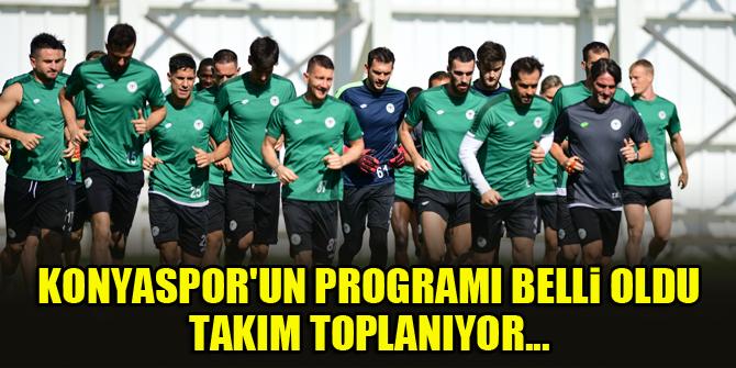 Konyaspor'un programı belli oldu