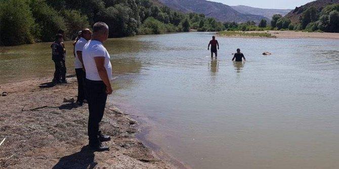 Irmağa giren iki çocuk ve babaları boğuldu