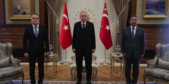 Erdoğan, Azerbaycan Dışişleri Bakanı Bayramov'u kabul etti
