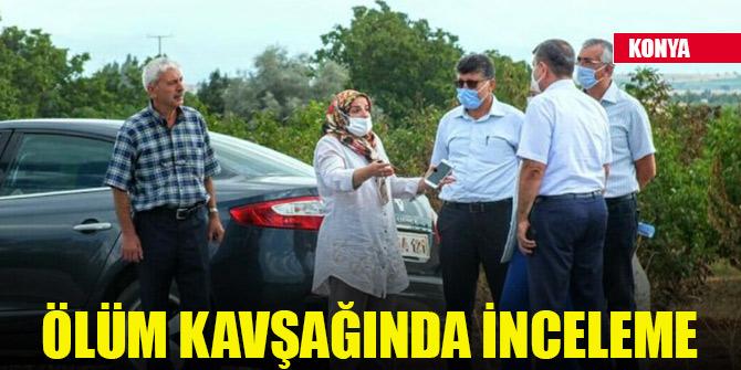 Karayolları Bölge Müdürü Cengiz, vatandaşların eylem yaptığı kavşakta incelemelerde bulundu