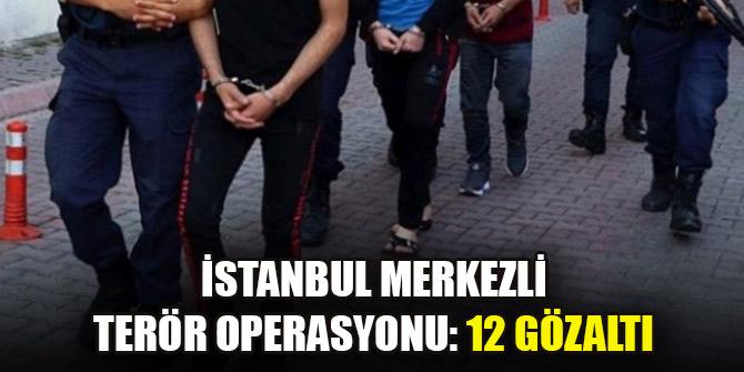 İstanbul merkezli terör operasyonu: 12 gözaltı