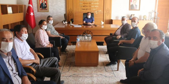 Konya'dan öğretim üyeleri Kaymakam Nayman'ı ziyaret etti