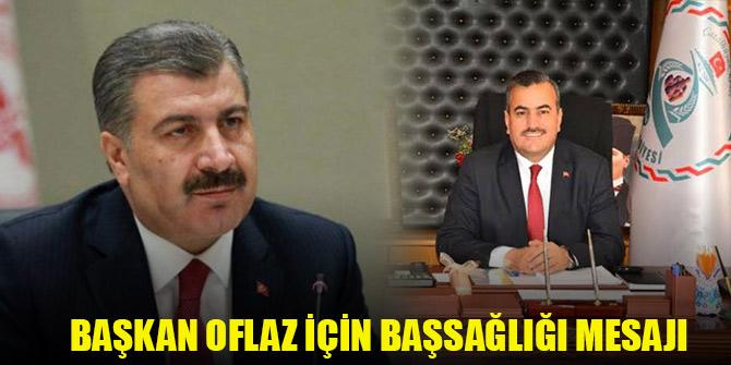 Bakan Koca'dan Kovid-19 nedeniyle hayatını kaybeden Oflaz için başsağlığı mesajı
