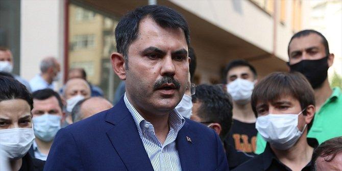 Bakan Kurum: Giresun'daki selde 17 bina yıkıldı, 361 bina hasar gördü