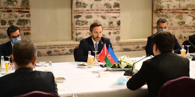 İletişim Başkanı Altun, Azerbaycan Cumhurbaşkanı Yardımcısı Hacıyev ile görüştü