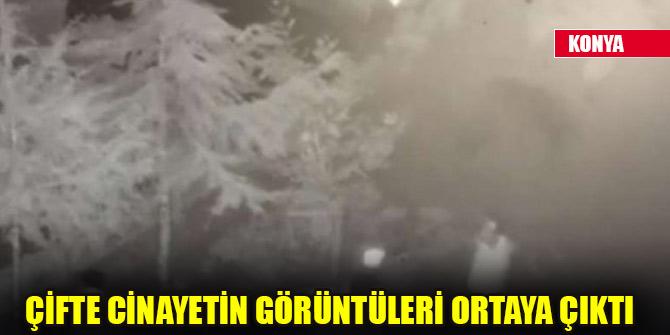 Konya'da çifte cinayetin görüntüleri ortaya çıktı!  O anlar kameralara yansıdı