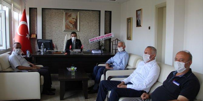 Kaymakam Şahin'e Başkan Koçer'den hayırlı olsun ziyareti