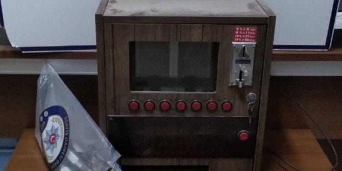 Kahvehanede baskınında sigaramatik ele geçirildi