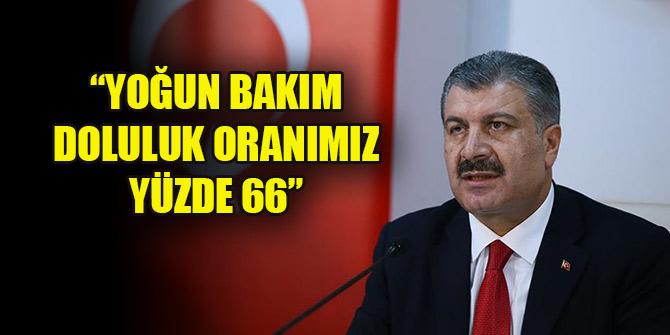 Bakan Koca: Türkiye genelinde yoğun bakım doluluk oranımız yüzde 66