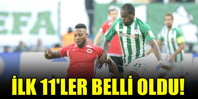 Gençlerbirliği-Konyaspor maçında ilk 11'ler belli oldu!