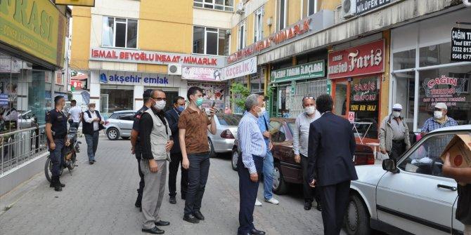 Akşehir'de maske denetimi