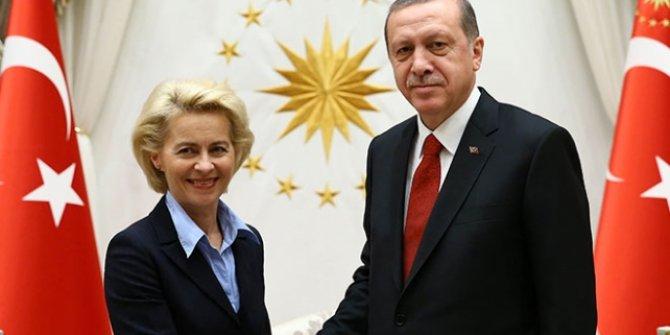 Cumhurbaşkanı Erdoğan, AB Komisyonu Başkanı ile görüştü