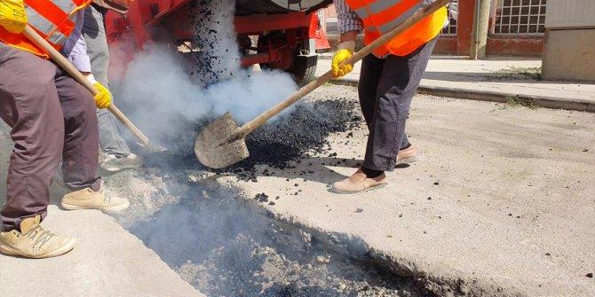 """Ilgın Belediyesi, atıl asfaltlarda """"geri dönüşüm"""" çalışması başlattı"""