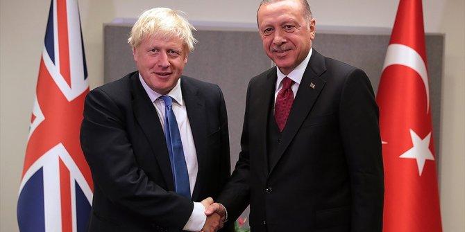 Cumhurbaşkanı Erdoğan ile İngiltere Başbakanı Johnson görüştü