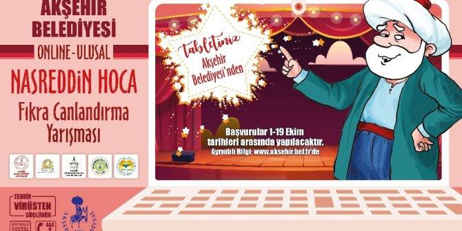 Akşehir Belediyesinden tablet ödüllü fıkra canlandırma yarışması