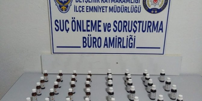 Konya'da polisten alkol katkı maddesi operasyonu