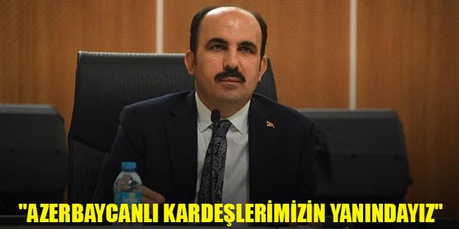 """Başkan Altay: """"Azerbaycanlı kardeşlerimizin yanındayız"""""""